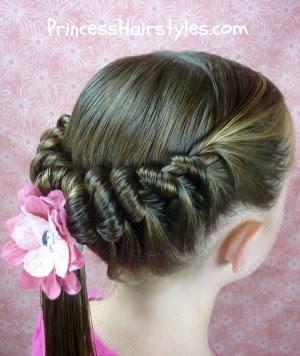 spiral twist hairstyle