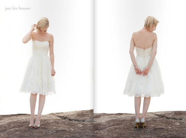 2013 lace short Wedding Dresses From Ivy And Aster