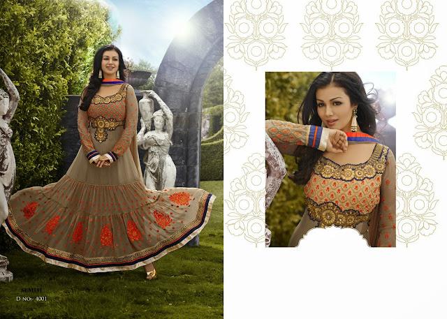 Ayesha Takiya Floor Length Designer Anarkali Suit