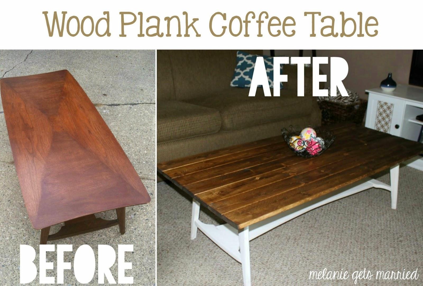 Making it in the mitten wood plank coffee table for Wood plank top coffee table