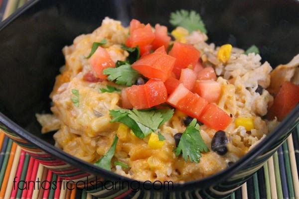Southwestern Chicken Casserole | www.fantasticalsharing.com | #casserole #rice #chicken #recipe