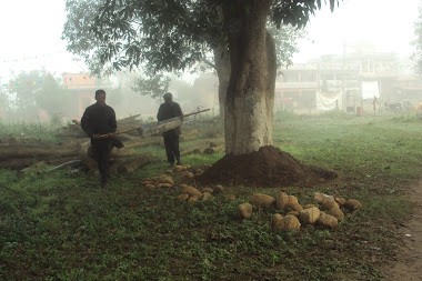 Going to first tree park construction by Bishnu Prasad Poudel