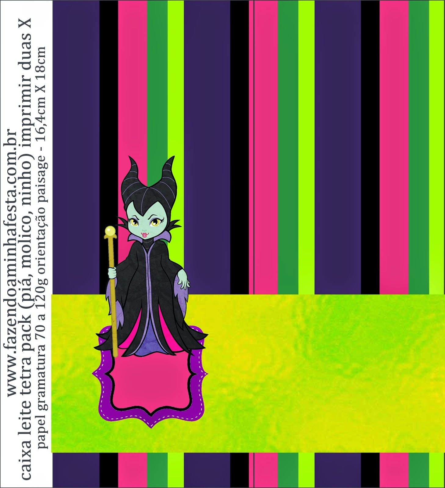 Maleficent Baby Free Printable Candy Bar Labels