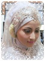 Gambar Contoh Model Jilbab Pengantin Muslimah 2014 Update