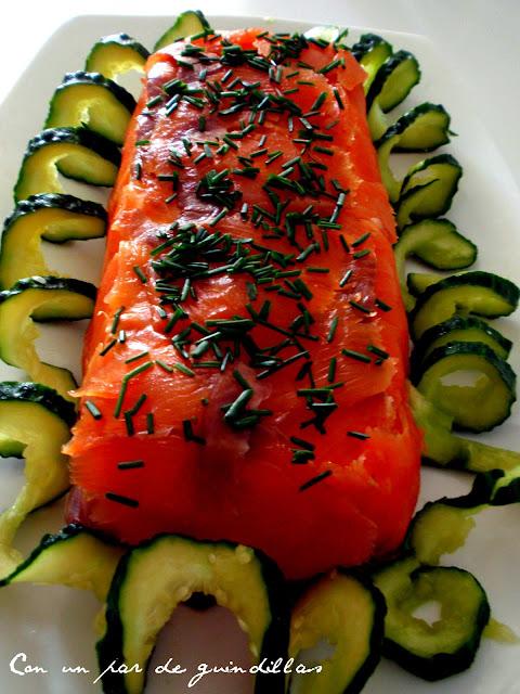 Flan-salmon