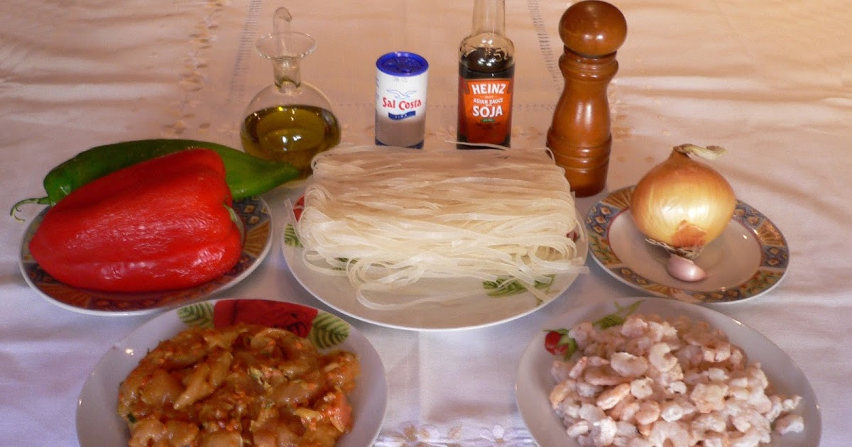 Cocineando Con Rosa Fideos Chinos De Arroz Con Pollo Y