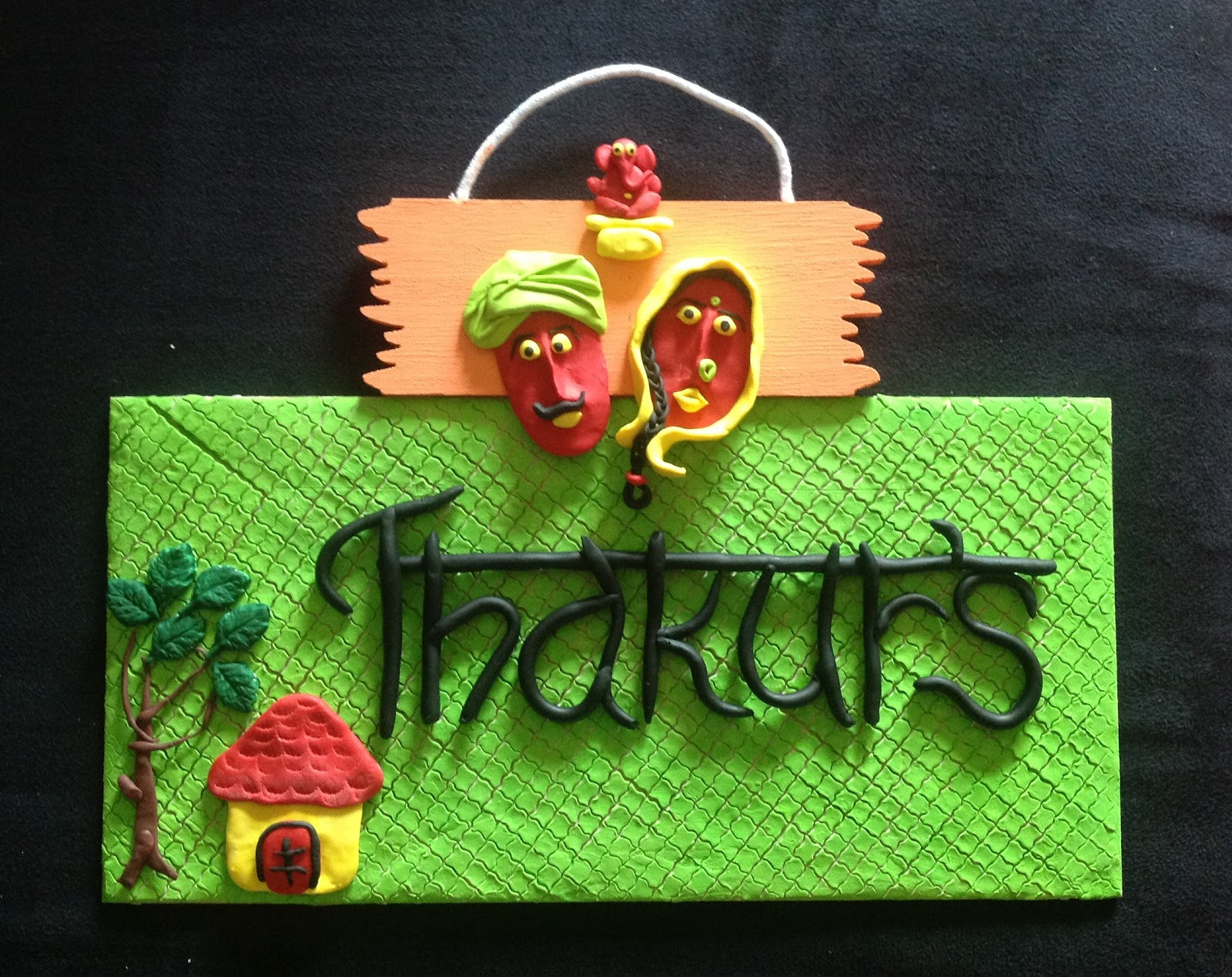Try it !!: Handcrafted mural nameplates