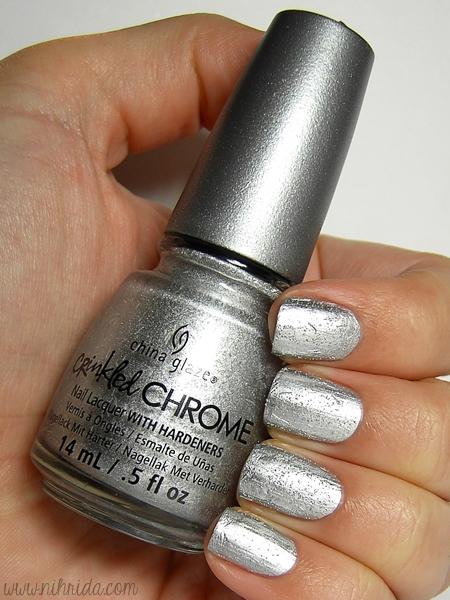 China Glaze Crinkled Chrome in Aluminate