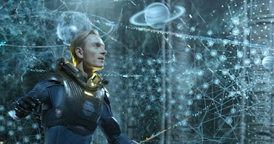 Michael Fassbender is cold and fascinating in PROMETHEUS.