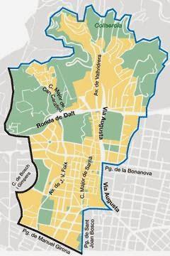 Sarrià, mapa