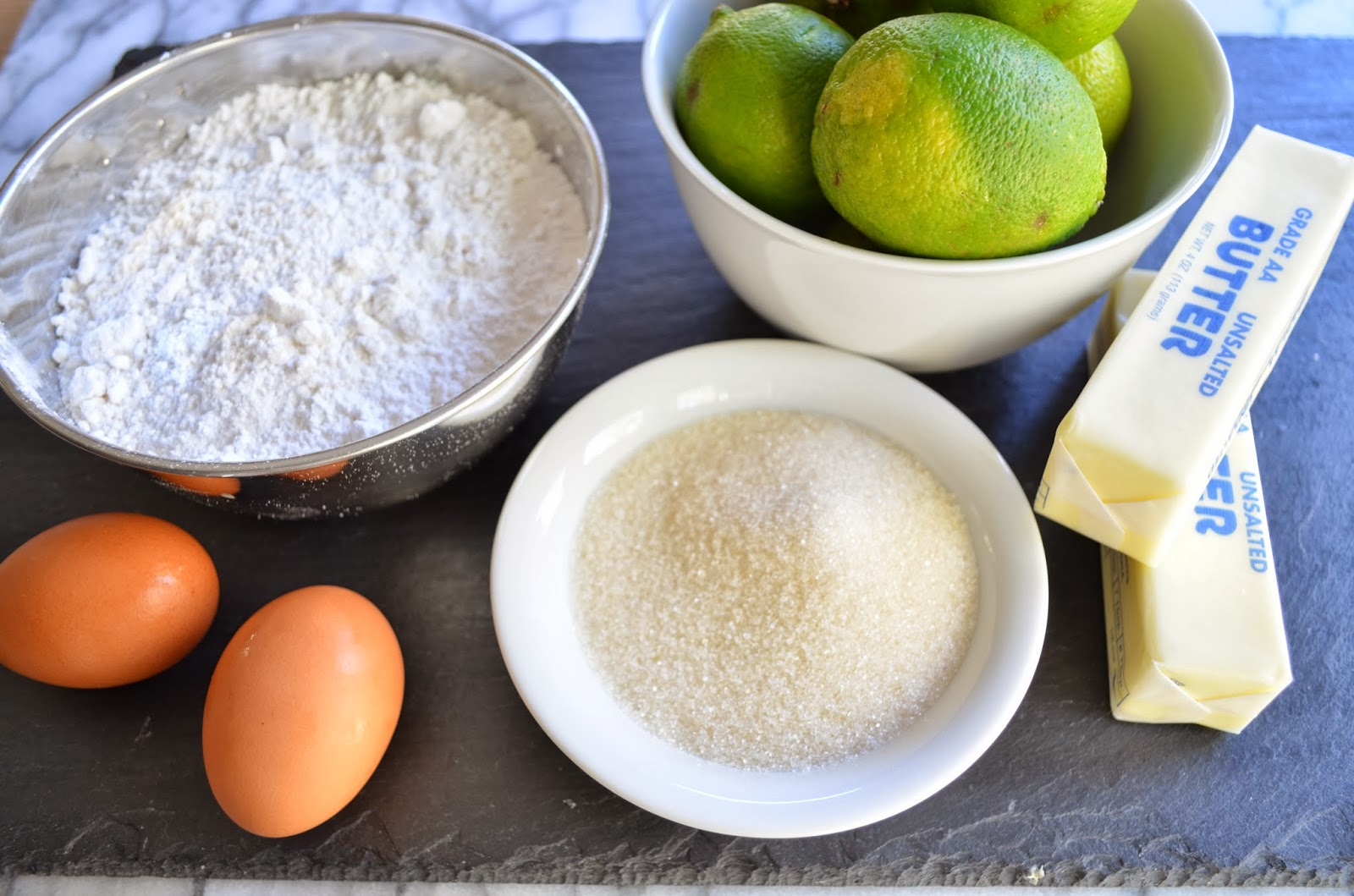 Lime thumbprints, ingredients.