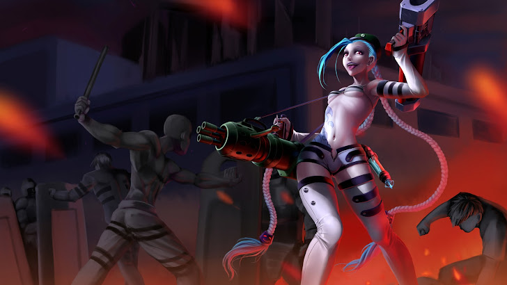Jinx Rebel skin girl