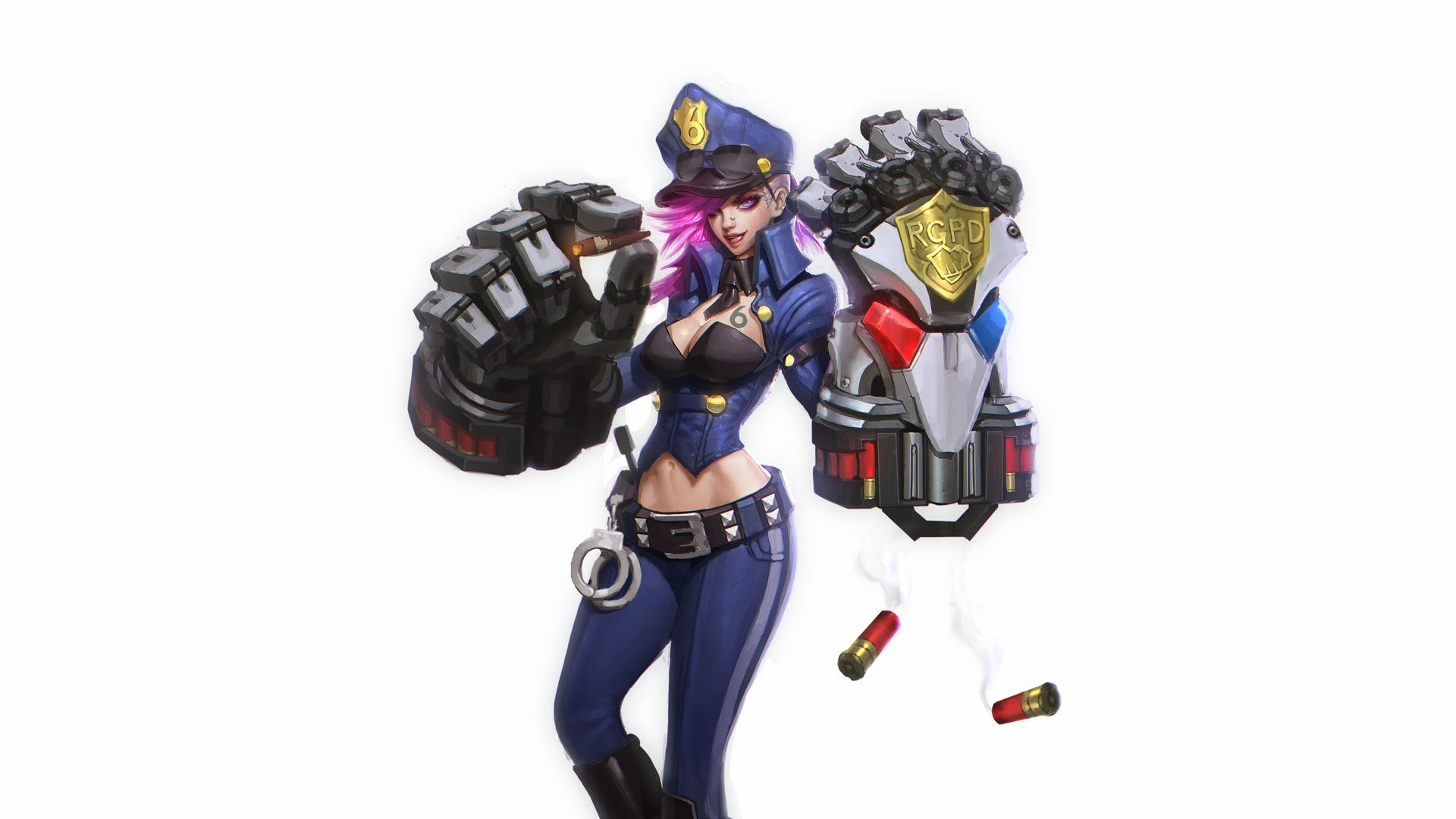 officer vi league of legends hd wallpaper lol champion 1920x1080 3v Officer Vi League Of Legends