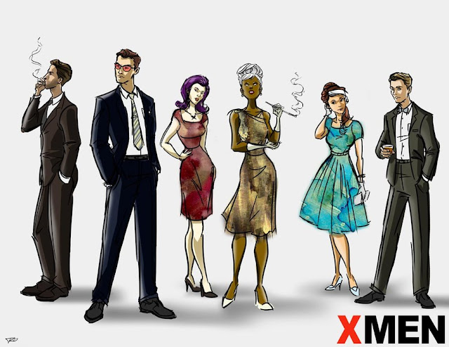 Mad Men/X-Men mash-up by Ray Ocampo