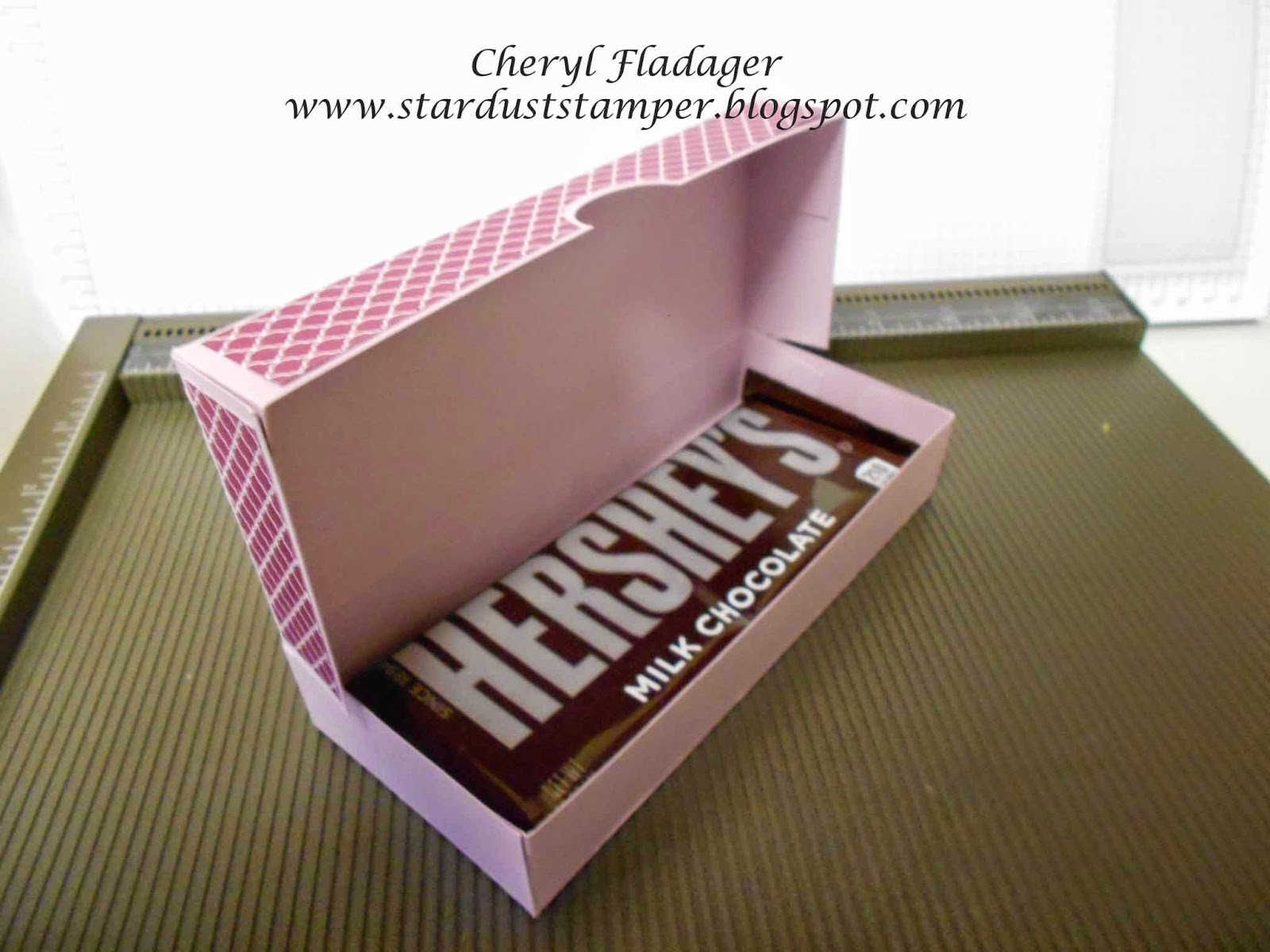 Cheryl Star Dust Stamper Perfect Candy Bar Box Chocolate Fuse Holder I Love The Size Of This Because A Hersheys Fits Perfectly Inside You Could Give Couple Them In Fact If Have Any Questions Please