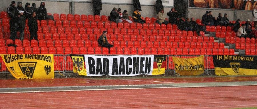 Kibice klubu Alemania Aachen - fot. Tomasz Janus / sportnaukowo.pl
