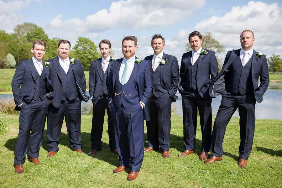 Magnificent Navy Blue Suit Brown Shoes Wedding Festooning ...
