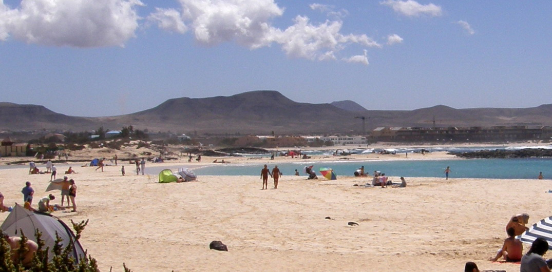 Playas nudistas Los Lagos de El Cotillo (Fuerteventura, España)