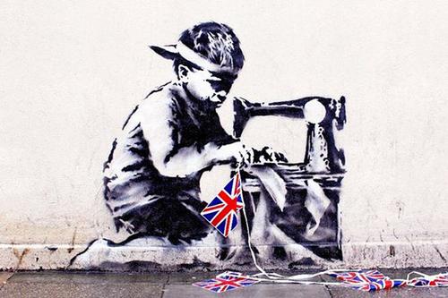 Doctor Ojiplatico. Banksy. Slave Labour | Doctor Ojiplatico. Banksy - Graffitis y Frases | Graffiti & Quotes