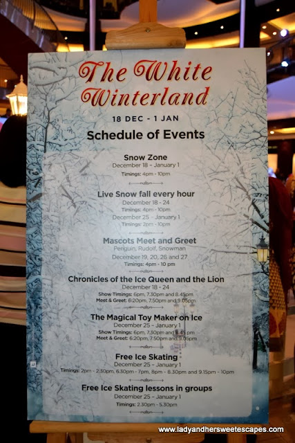 The White Winterland schedule