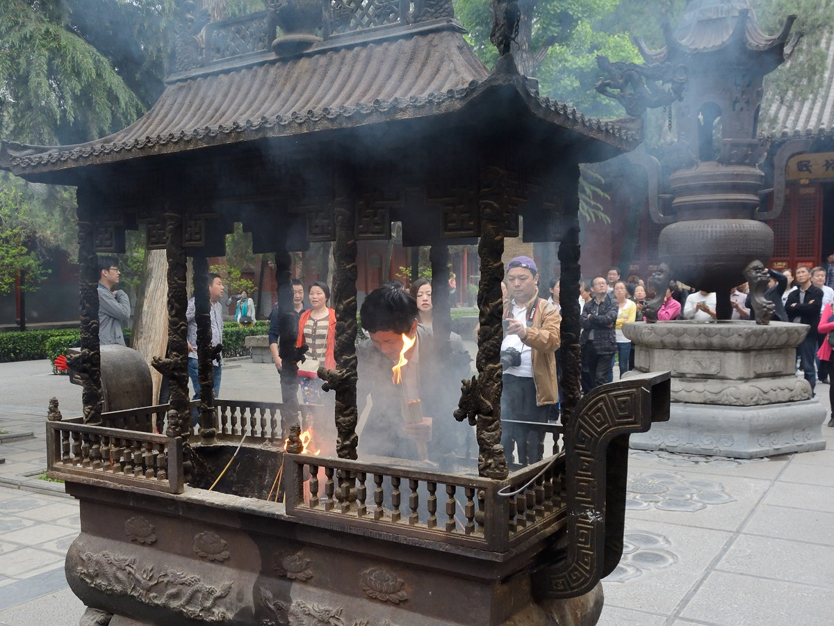 Incense burner  at 白马寺 or White Horse Temple or Baimasi
