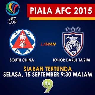 JDT Vs South China 15 September 2015