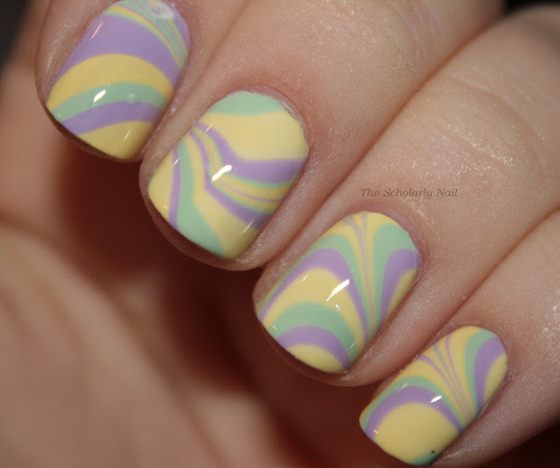 scholarly nail pastel water