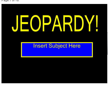 Mrs. Umbehant\'s Class: Jeopardy Template for SMART Response