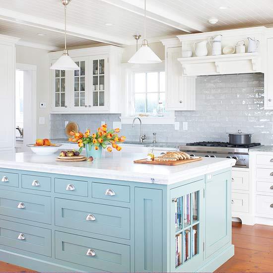 Dream Kitchen Designs With Islands: New Home Interior Design: Colorful Kitchen Islands