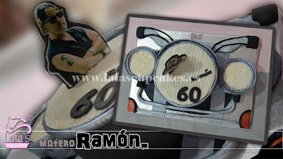 Tarta de fondant moto Laia's Cupcakes Puerto de Sagunto