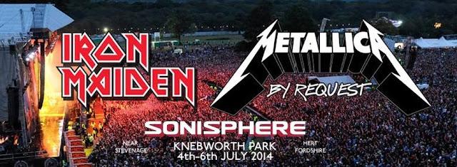 Metallica e Iron Maiden en Sonisphere 2014