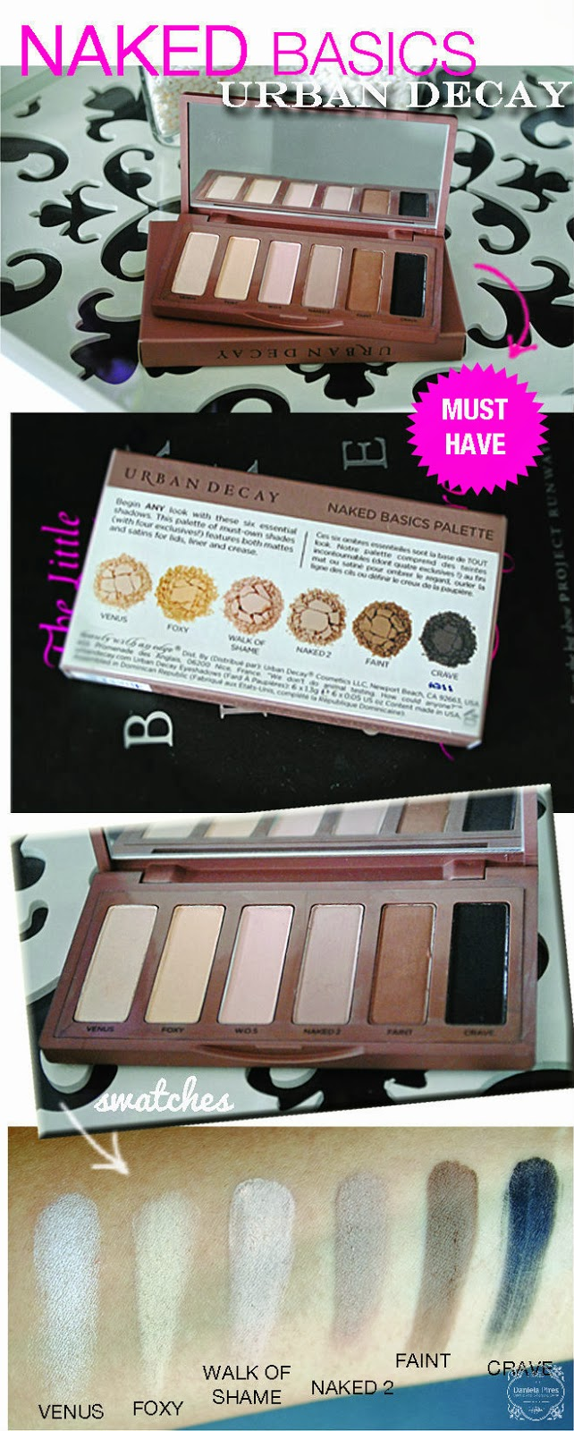 urban decay, naked basics, review, daniela pires, blogger, maquilhadora profissional, paleta de sombras, basic eyeshadows, must have