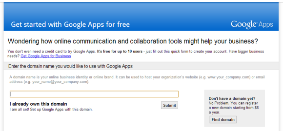 Google Apps, Longer Free Small