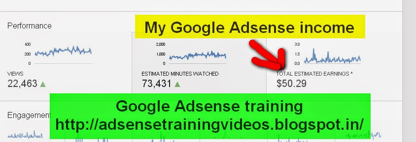 2 January ko ko Google Adsense ne diya $50.29 ka income - Proof