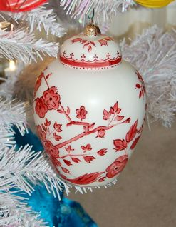 Chinoiserie Christmas Tree And Ornaments