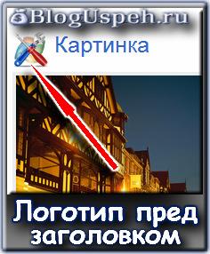 Изображение перед заголовком на Blogspot