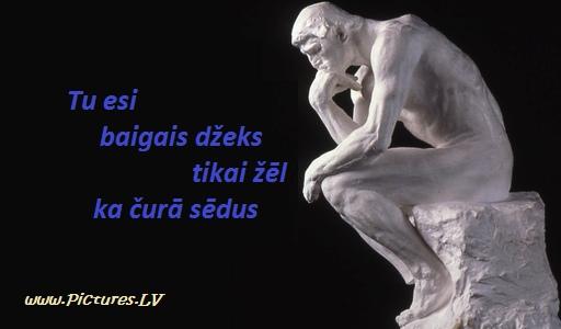 Rodēna skulptūra - domātājs