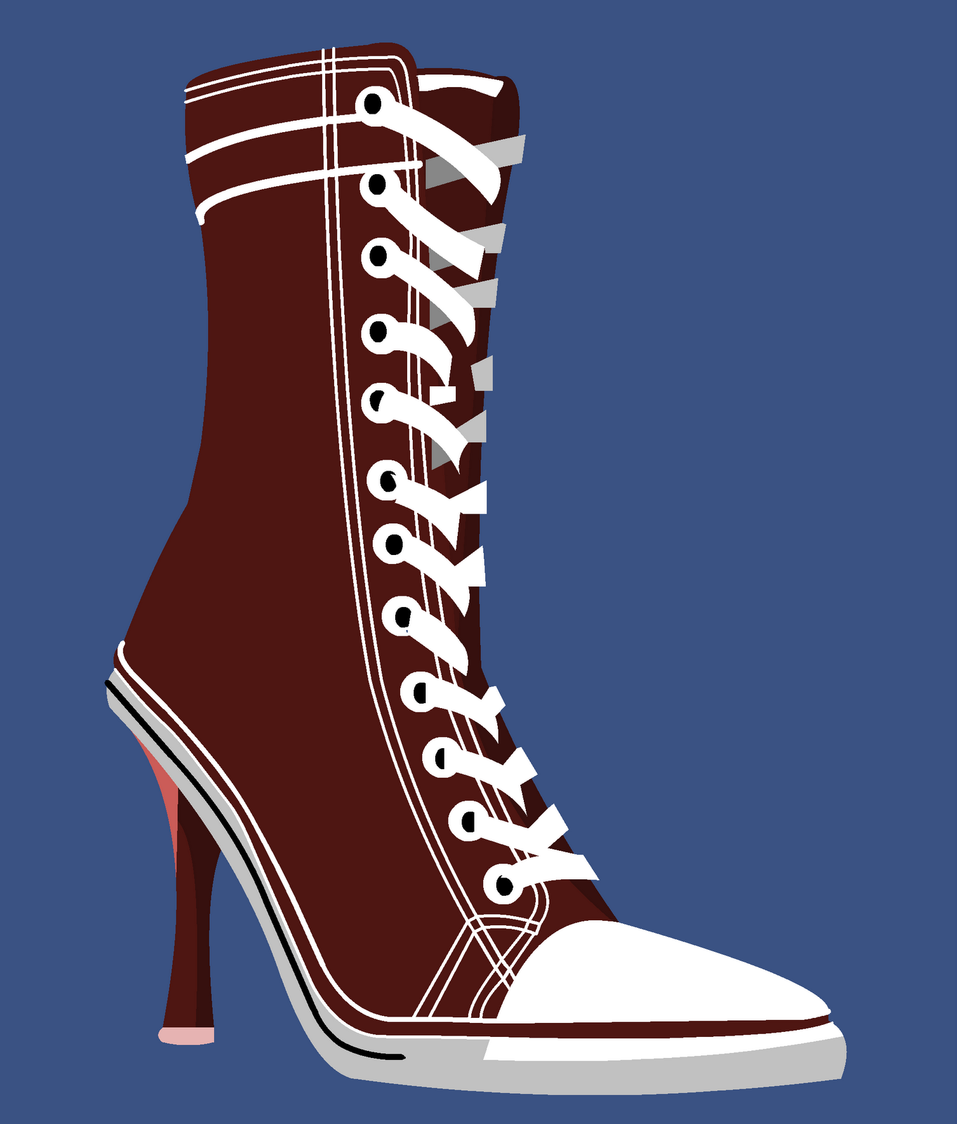Seven Blue Orchids: Drawing a Day: Converse Heels