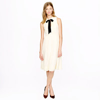 J. Crew Swiss-Dot Chiffon Dress
