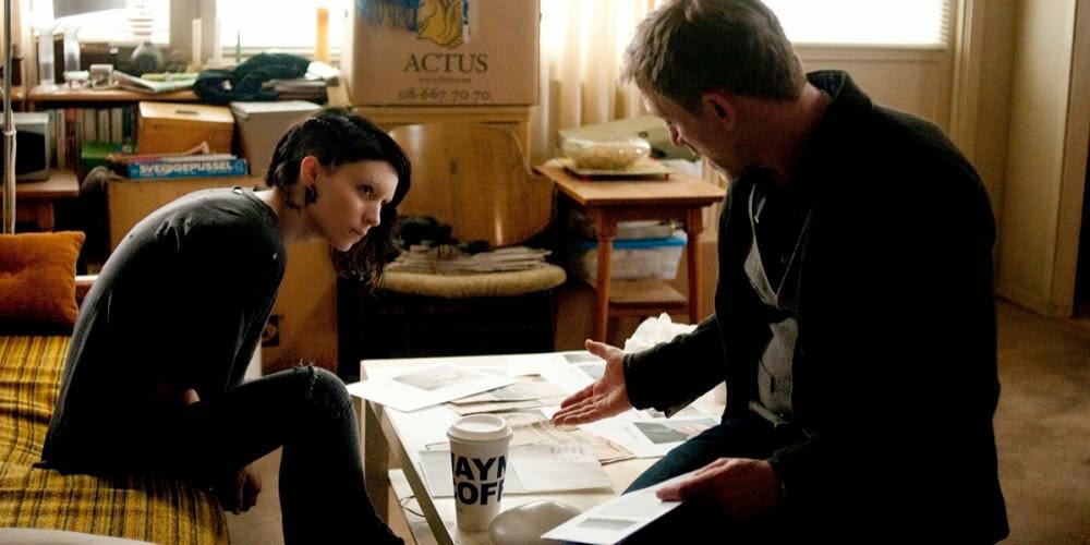 Rooney Mara e Daniel Craig em MILLENNIUM: OS HOMENS QUE NÃO AMAVAM AS MULHERES (The Girl with the Dragon Tattoo)