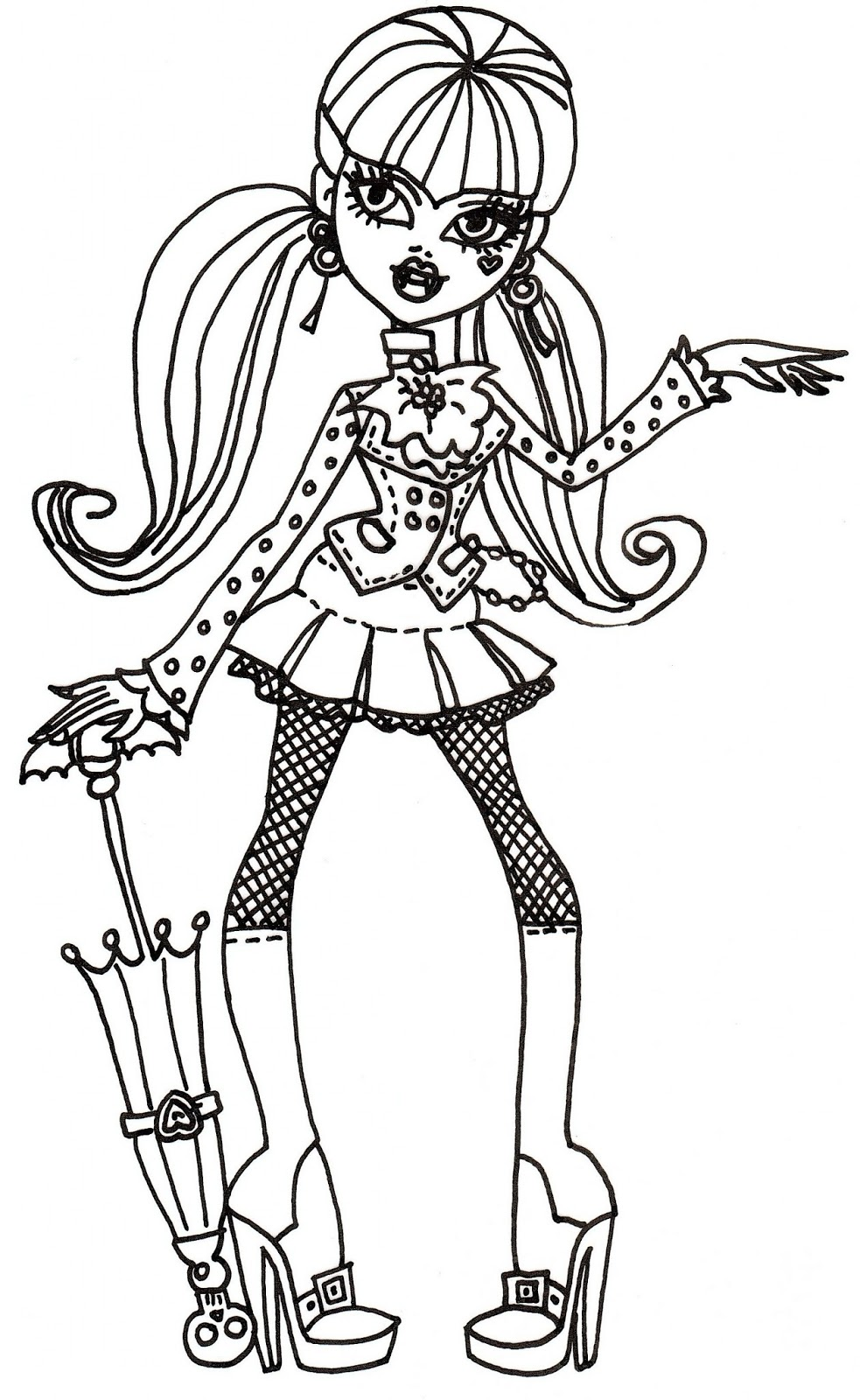 free draculaura coloring sheet - Draculaura Coloring Pages