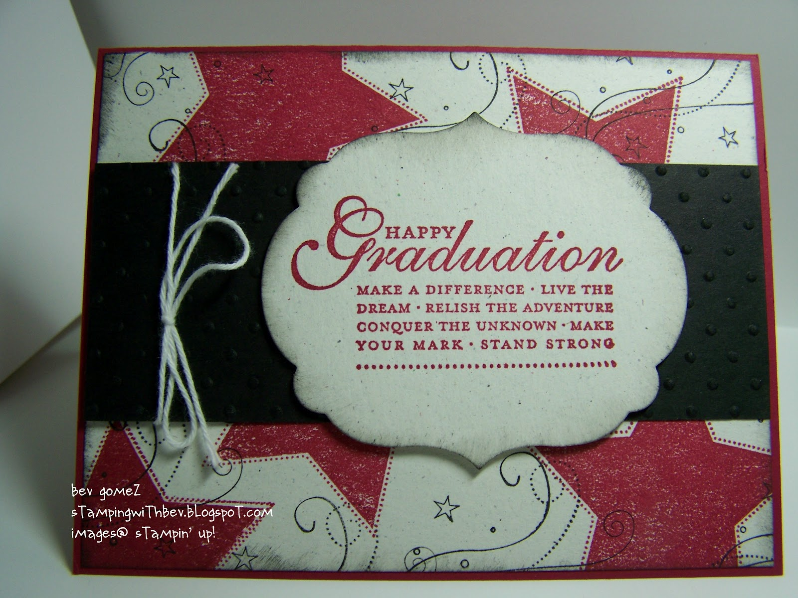 stamping with bev happy graduation card