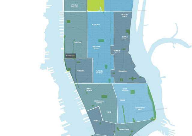 Picture of Manhattan and its neighborhoods