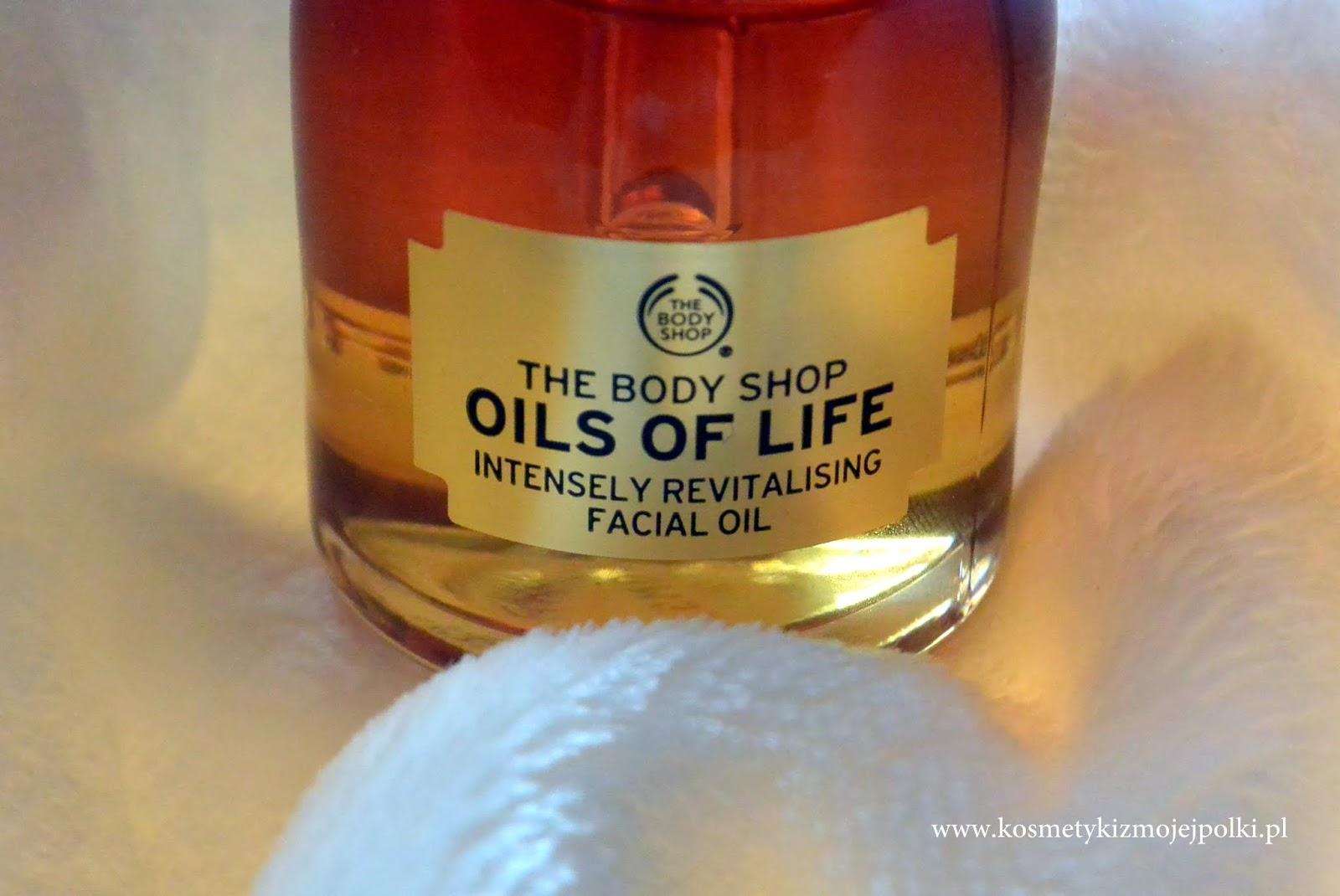 OILS OF LIFE Intensywnie rewitalizujący olejek do twarzy THE BODY SHOP