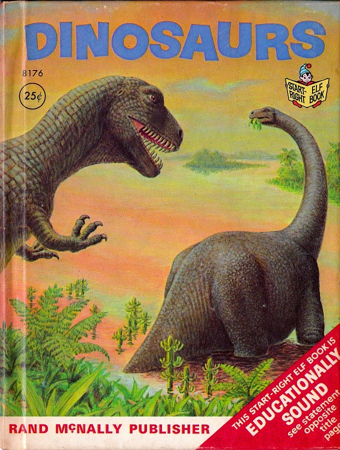 Vintage Dinosaur Art: Dinosaurs (Start-Right Elf Book)