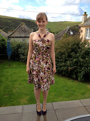 Diary of a Chainstitcher Floral Sewaholic Lonsdale Dress sewing pattern