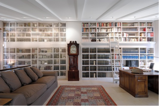 Escalera corredera libreria