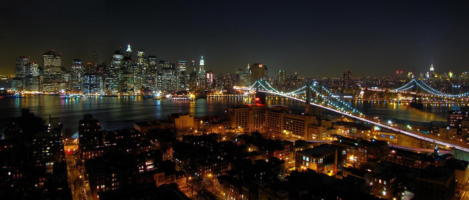 New york dan gece manzaraları hd duvar kağıtları resimler