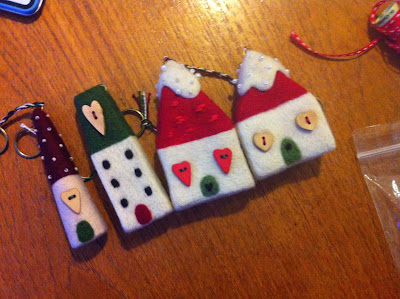 Gretel Parker's needle felted Christmas Cottages