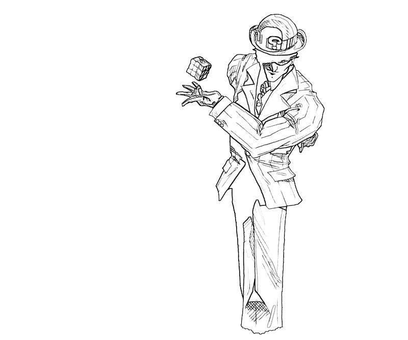 the riddler coloring pages - photo#5